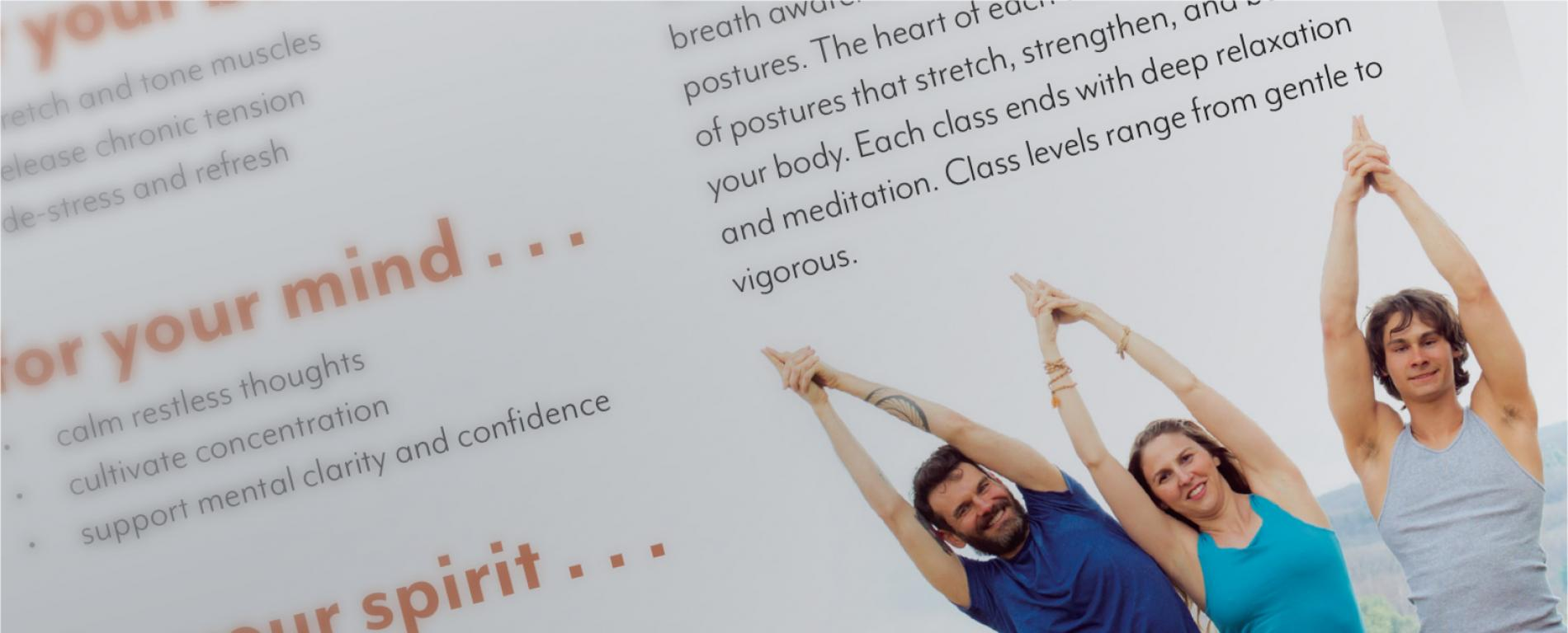 Kripalu Yoga and Ayurveda Brochures  Kripalu